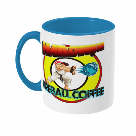 Street Fighter Inspired Hadouken Fireball Coffee Two Toned Mug